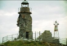 Lighthouse in ruins prior to restoration in 1999