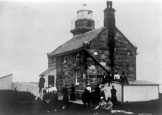 Lighthouse in late 1800s