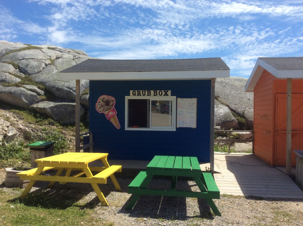 The Grub Box ( A takeout Food Kiosk)